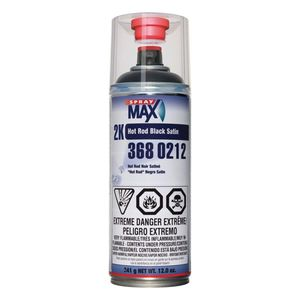 SprayMax, Peter Kwansy, Inc 3680212 3680212 2K Hot Rod Spray Paint, 12 oz Aerosol Can, Black