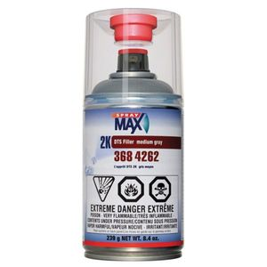 SprayMax, Peter Kwansy, Inc 3684262 3684262 2K DTS Sealer, 8.4 oz Aerosol Can, Medium Gray, 5.8 sq-ft/gal Coverage