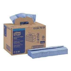 Tork® 13247501 13247501 Handy Box Industrial Wiper, 16-1/2 in L x 12.8 in W, 180, Paper, Blue, 4 Plys