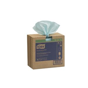 192475 Pop-Up Box Low Lint Cleaning Cloth, 16-1/2 in L x 9 in W, 100, Spunlace, Turquoise, 1 Plys