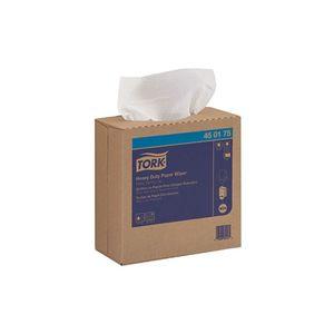 Tork® 450175 450175 Heavy Duty Pop-Up Box Wiper, 16-1/4 in L x 9-1/4 in W, 90, Paper/Double Re-Creped, White, 1 Plys