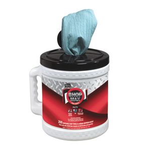 450340 Centerfeed Dry Wipe, 218.33 ft L x 9.9 in W Roll, 200, Paper/Double Re-Creped, Blue, 1 Plys