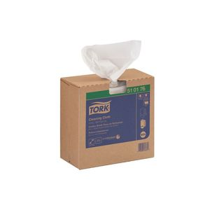 510176 Pop-Up Box Cleaning Cloth, 16.13 in L x 8.46 in W, 100, Spunlace, White, 1 Plys