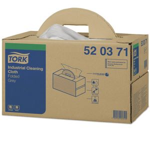 Tork® 520371 520371 Handy Box Industrial Cleaning Cloth, 16.9 in L x 14 in W, 280, Spunlace, Gray, 1 Plys