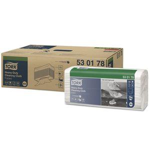 Tork® 530178 530178 Heavy Duty Top-Pak Cleaning Cloth, 16.9 in L x 14 in W, 100, Spunlace, White, 1 Plys