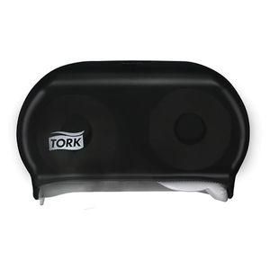 Tork® 59TR 59TR Twin Dispenser, 5.6 in L x 8.3 in H x 12.8 in W, Plastic, Smoke