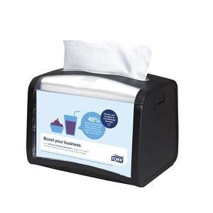 Tork® 6232000 6232000 Tabletop Dispenser, 5.9 in L x 6.1 in H x 7.9 in W, Plastic, Licorice