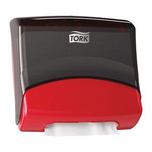 Tork® 6540281 6540281 Folded Wiper/Cloth Dispenser, 8.1 in L x 15-1/2 in H x 16.8 in W, Plastic, Red