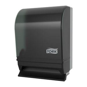 87T Push-Bar Auto Transfer Dispenser, 8.8 in L x 15.8 in H x 10-1/2 in W, Metal/Plastic, Smoke/Gray