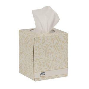 Tork® TF6910A TF6910A Premium Facial Tissue Cube Box, 8 in W x 8 in L, 2 Plys