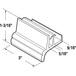 "CRL M6144 1-3/8"" Wide Sliding Door Bottom Guide for Workright"