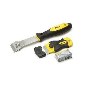 TITAN™ 17002 17002 2-Piece Multi-Purpose Razor Scraper Set, Polypropylene, TPR Sleeve and Safety Cap