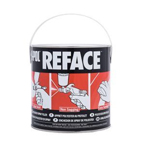 U-POL UP0733 UP0733 2K Polyester Spray Putty, 2.5 L Tin, White