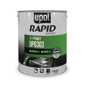 U-POL UP6303 UP6303 2K High Solids Rapid Cure Primer, 1 gal Tin, Gray, 4:1 Mixing