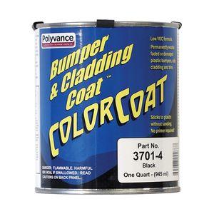 Polyvance 3701-4 3701-4 3700 Series Color Coat, 1 qt, Pourable Liquid, Black