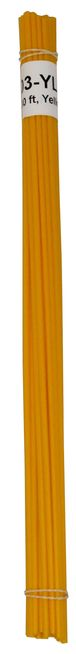 Polyvance R12-01-03-YL R12-01-03-YL Welding Rod, 1/8 in Dia x 12 in L, Round, HDPE, Yellow