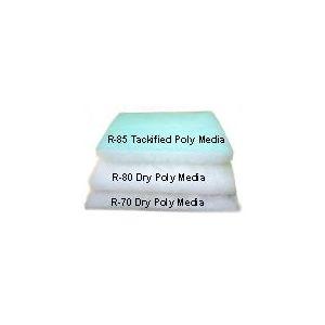 Viskon-Aire 233-901 R-80 Prefilter (Pad / Non-Tackified) -- Accudraft Dry Polyester prefilter media