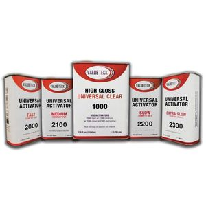 Value Teck NO2100V-4 2100-4 Standard Eco Hardener, 1 qt, Use With: 1000-1 4:1 mix ratio Universal Clear
