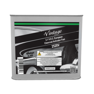 Vintage 2520V CP2520V Fast Clearcoat Activator, 2.5 L, Colorless, Liquid, Use With: European Clearcoats