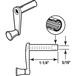 "CRL R7009 Diecast RV Window Crank Handle - 1-1/4"" Stem Length"