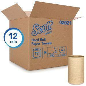 Scott™ 02021 02021 Hard Roll Towel, 8 in x 800 ft, Paper, Brown, 1 Plys