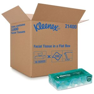 Kleenex® 21400 21400 Professional Series Flat Box Facial Tissue, 8.3 in L x 7.8 in W