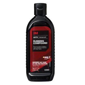 3M 3900 03900 Auto Care Rubbing Compound, 8 fl-oz Bottle, White, Liquid