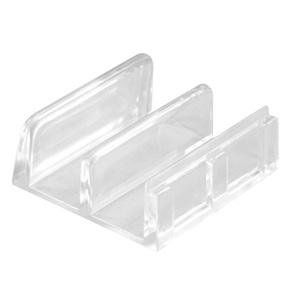 "CRL M6059 1-7/16"" White Wide Tub Enclosure Sliding Door Bottom Guide - pack of 2"