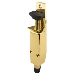 Brass Door Mounted Step-On Door Holder