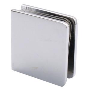 Polished Chrome Traditional Style Fixed Panel U-Clamp