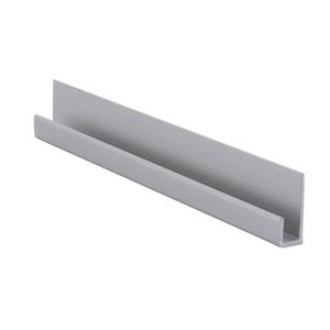 "CRL D3316A Satin Anodized Aluminum 3/16"" J-Channel - 144"" Stock Length"