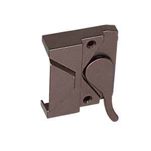 """CRL H3572 Bronze Left Hand Casement Window Lock 2-3/8"""" Screw Holes"""