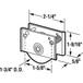 """CRL D1637 1-3/4"""" Steel Sliding Glass Door Roller with 5/8"""" Wide Housing"""
