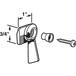 CRL R7151 Right Hand Black Sliding Window Latch Single Screw Hole