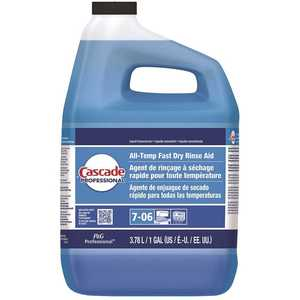 CASCADE 003700071186 Professional 1 Gal. Closed-Loop All-Temp Fast Dry Rinse Aid Dishwasher Liquid Concentrate Detergent