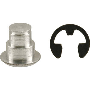 """CRL H3690 .309"""" Jalousie and Awning Link Groove Pin and E-Ring"""