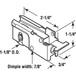 "CRL D1523B 1-1/8"" Steel Sliding Glass Door Roller with 23/32"" Wide Housing Bulk (10) Pack"