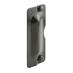 "CRL U9501 7"" Bronze Latch Shield for Flush Mounted Doors"