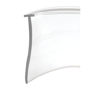 Clear Shower Door Bottom 'T' Seal and Wipe