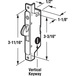 """Adams Rite E2009 1/2"""" Wide Round End Face Plate Mortise Lock for Doors- Vertical Keyway"""