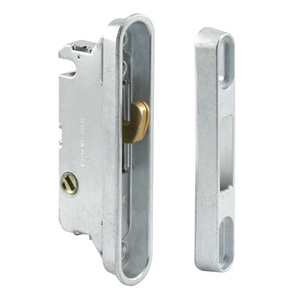 "CRL E2487 7/8"" Wide Mortise Lock and Keeper with 3-1/2"" Screw Holes with 45 Degree Keyway"