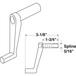 "CRL R7226-XCP2 Diecast RV Window Crank Handle; 1-3/4"" Stem Length  - pack of 2"