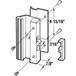 "CRL C1007 Black Low Profile Hook Style Surface Mount Handle 4-15/16"" Screw Holes"