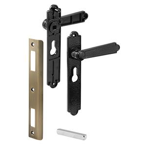 CRL K5063 Black Screen and Storm Security Door Mortise Lock Levers for Academy Doors