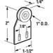 "CRL B537 1"" Steel Ball Bearing Sliding Screen Door Top Hung Roller for Fullview Doors"