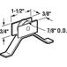 """CRL B503 7/8"""" Nylon Sliding Screen Door Spring Tension Roller for Keller Doors"""