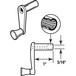 "CRL R7007 Diecast RV Window Crank Handle - 1"" Stem Length"