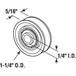 """CRL D2032 1-1/4"""" Diameter Steel Door Rollers - pack of 2"""