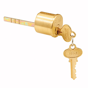CRL SE70007 Segal Lock Key Cylinder Brushed Brass Finish - Cylinder and 2 keys Only