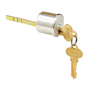 CRL SE70008 Brushed Chrome Segal Lock Key Cylinder - Cylinder and 2 keys Only
